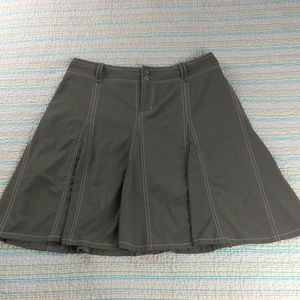 Athleta 8 Taupe Gray Brown Athletic Whatever Skort
